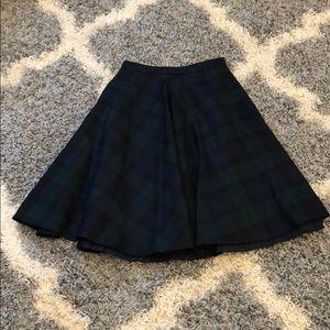 Brooks Brothers tartan check mid length skirt.